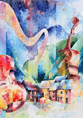 Imaginary Painting - Cinquieme Symphonie by Beatrice BEDEUR