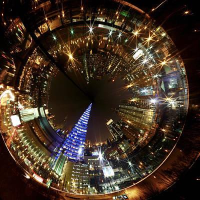 Photograph - Cira Center Christmas Tree by Alice Gipson