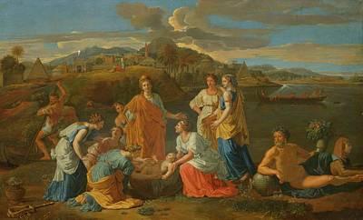 Circa 1700 Follower Of Poussin Nicolas Art Print