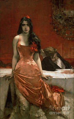 Silk Painting - Circe by Charles Hermans