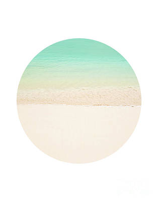 Framed Matted Photograph - Circle Beach by Delphimages Photo Creations
