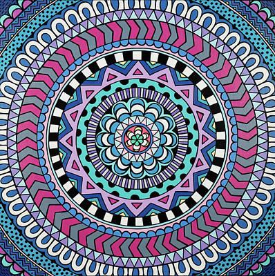 Painting - Purple Mandala by Beth Ann Scott