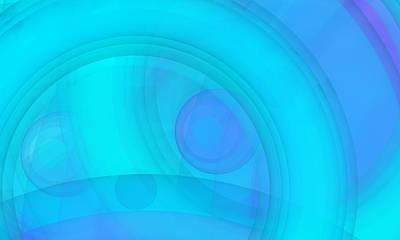 Mist Digital Art - Circle Blue 5 by Alberto RuiZ