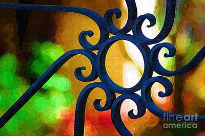 Circle Design On Iron Gate Art Print by Donna Bentley