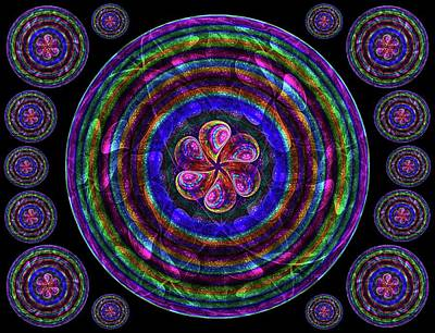 Shower Digital Art - Circle Flower 2 by Angie Tirado