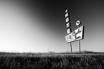 Signs Photograph - Circle Inn by Todd Klassy