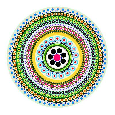 Tribal Art Painting - Circle Motif 217 by John F Metcalf
