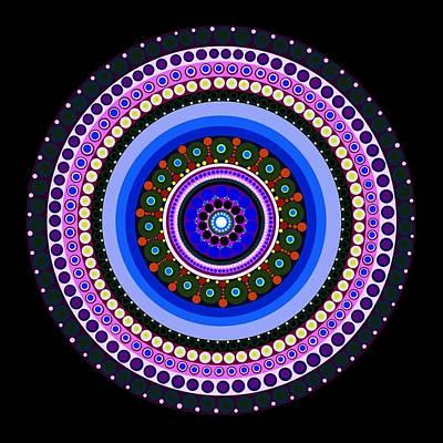 Tribal Art Painting - Circle Motif 234 by John F Metcalf