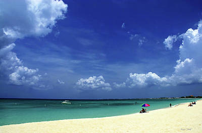 Photograph - Circle Of Clouds On Grand Cayman by Marie Hicks