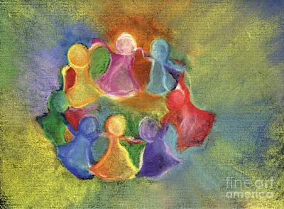 Circle Of Friends Art Print by Susan Vannelli