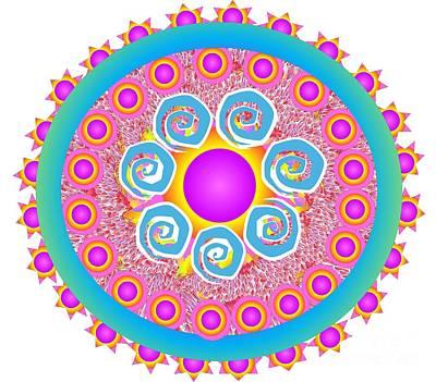 Drawing - Circle Of Harmony by Belinda Threeths