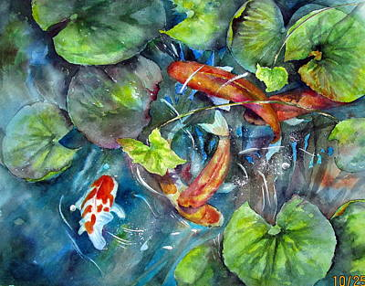 Painting - Circle Of Koi by Mary McCullah