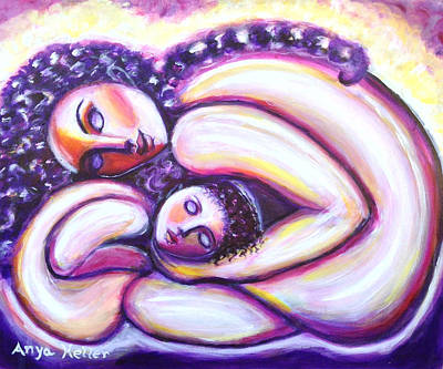 Art Print featuring the painting Circle Of Love by Anya Heller