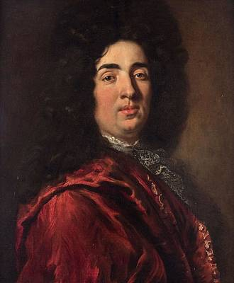 Cheerful Painting - Circle Of Nicolas De Largilliere French 1656-1746 Portrait Of A Gentleman by Circle Of Nicolas De Largilliere French