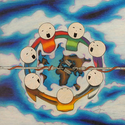 Circle Of People Original by Angelo Sena