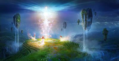 Metaphysical Mixed Media - Circle Of Satori by Philip Straub