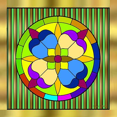 Digital Art - Circle On Bars 3 by Chuck Staley