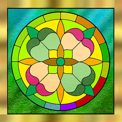 Digital Art - Circle On Green Glass by Chuck Staley