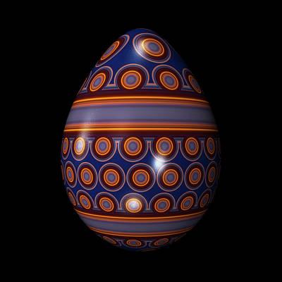 Algorithmic Digital Art - Circle Pattern Egg by Hakon Soreide