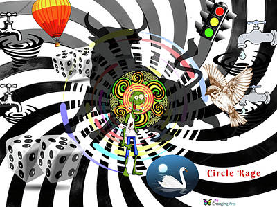 Digital Art - Circle Rage II by Steven Brier