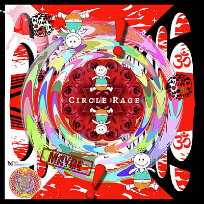 Digital Art - Circle Rage by Steven Brier