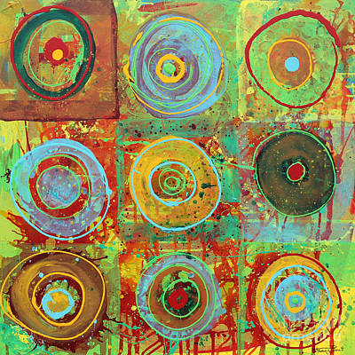 Drip Painting - Circle Series-1 by Steven R Plout