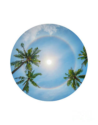Halo Wall Art - Photograph - Circle Sun Halo by Delphimages Photo Creations