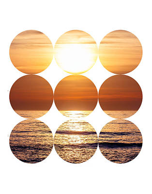 Cut Out Mixed Media - Circle Sunset by Pati Photography