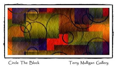 Circle The Block Art Print by Terry Mulligan