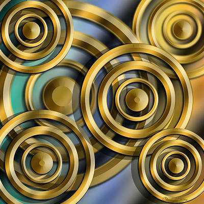 Digital Art - Circles 3 D by Chuck Staley