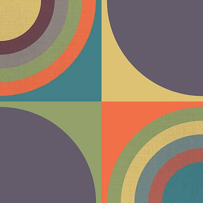 Screen-print Digital Art - Circles - 3 by Finlay McNevin