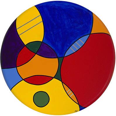 Circles Abstract 1 Art Print by Patty Vicknair