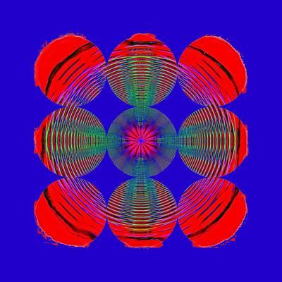 Photograph - Circles And Circles Blue by John M Bailey