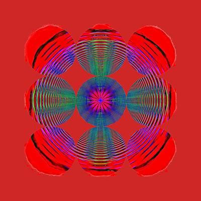 Photograph - Circles And Circles Red by John M Bailey