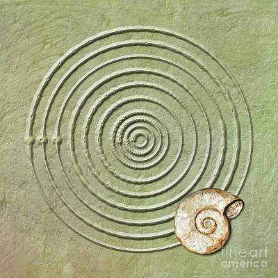 Digital Art - Circles And Spiral by Gabriele Pomykaj