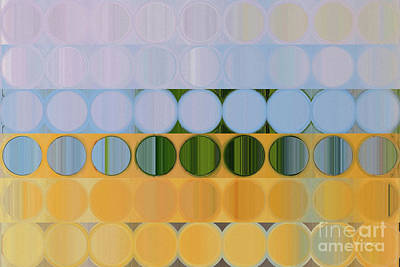Painting - Circles And Squares 61. On The Sunny Side by Mark Lawrence