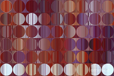 Painting - Circles And Squares 60. Red And Purple Panel by Mark Lawrence