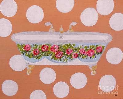 Old-fashioned Painting - Circles And Suds by Eloise Schneider