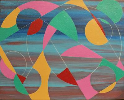 Painting - Circles At Twilight by Angelo Thomas