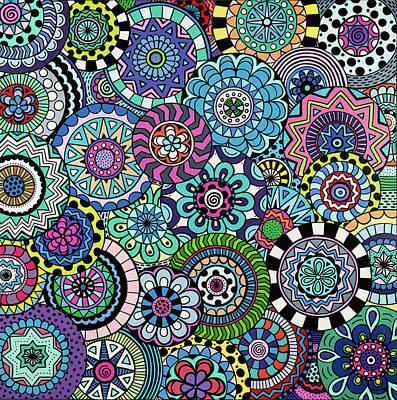 Painting - Many Mandalas by Beth Ann Scott