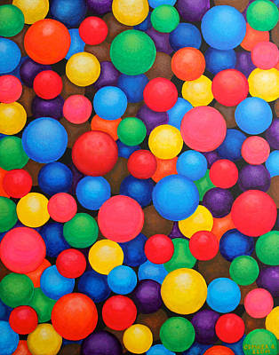 Painting - Circles by Cyril Maza