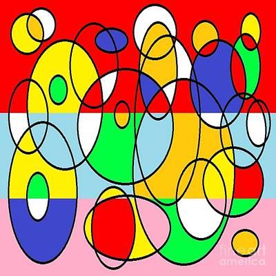 Eliso Digital Art - Circles by Eliso Ignacio Silva