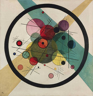 Circles In A Circle Art Print by Wassily Kandinsky
