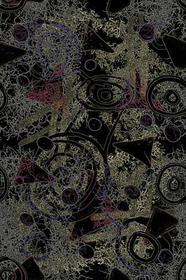 Digital Art - Circles In Black by April Burton
