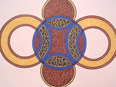 Print featuring the drawing Circles In Ink by Beth Akerman
