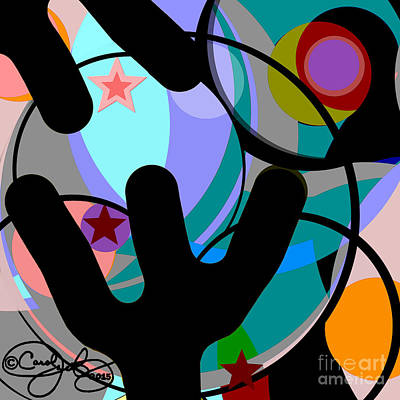 Digital Art - Circles In Squares by Carol Jacobs