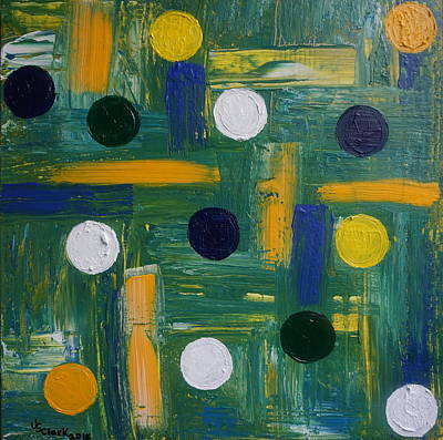 Painting - Circles by Jimmy Clark