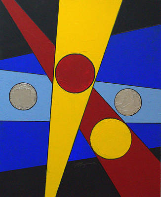 Painting - Circles Lines Color 2 by J R Seymour