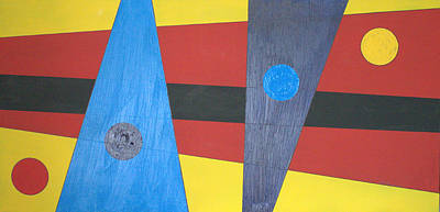 Painting - Circles Lines Color #3 by J R Seymour