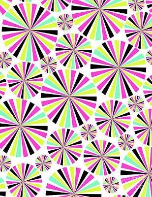 Kaleidoscope Digital Art - Circles by Louisa Knight